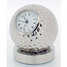 Chrome Golf Ball Clock