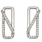 Fiorelli - Crossover Pave Earrings