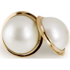 Raw Pearls - Mabe Gold Earrings
