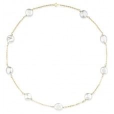 Raw Pearls - Gold Belcher Chain With Pearls