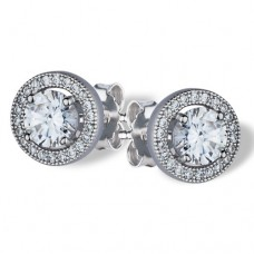 Real Effect - CZ Round Cluster Earrings