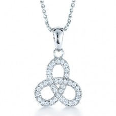 Real Effect - CZ Entwined Loop Shape Pendant