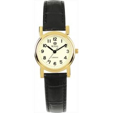 Royal London – Classic Ladies Watch with Black Strap (Gold Finish) - £54.95