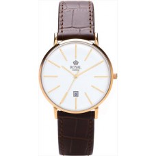 Royal London - Modern Ladies Watch with Dark Brown Strap
