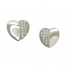 Real Effect - CZ Heart Shape Earrings